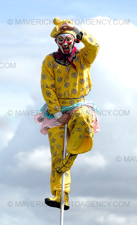 """EDINBURGH, UK - 4th August 2010: Chinese State Circus performers rehearse ahead of their opening night show """"Mulan"""" on Friday 6th August at the Big Top at Ocean Terminal in Edinburgh...Picture shows the Monkey King..(Photograph: Richard Scott/MAVERICK)"""