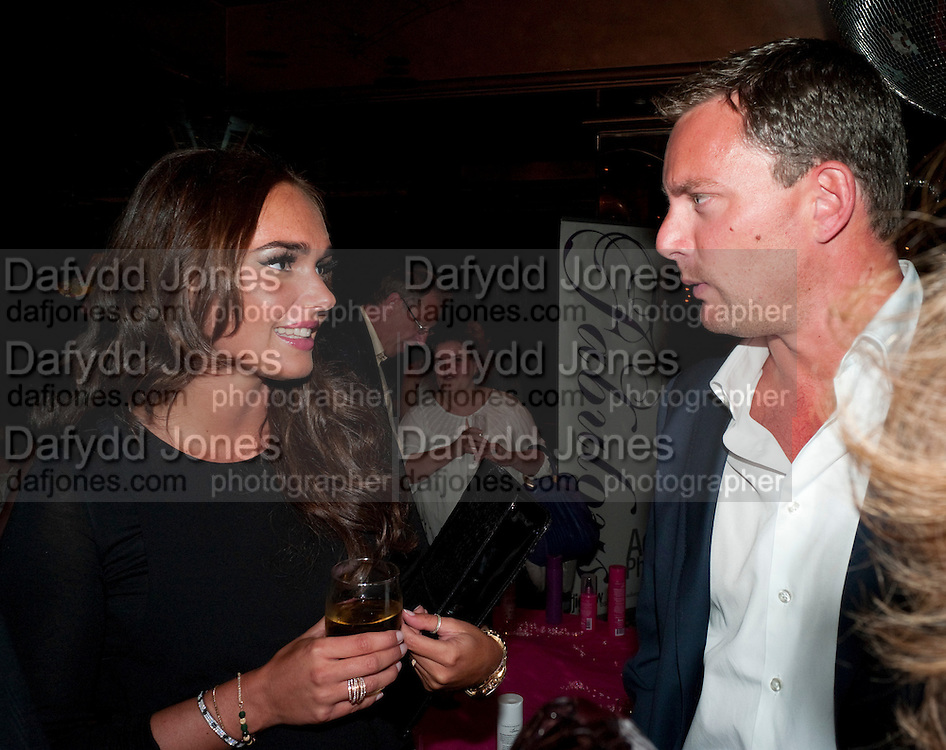 TAMARA ECCLESTONE; ROB MONTAGUE, launch of Fabulous Haircare Range, Frankie's Italian Bar and Grill, 3 Yeomans Row, off Brompton Road, London SW3, 7pm