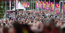 London, 2017-August-04. 55,000 people attend the opening session at the IAAF World Championships London 2017. Paul Davey.
