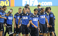 Italy squad during training at Arena das Dunas, Natal<br /> Picture by Stefano Gnech/Focus Images Ltd +39 333 1641678<br /> 23/06/2014