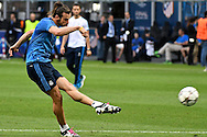 Gareth Bale of Real Madrid pictured during Real Madrid training prior to their UEFA Champions League Final match against Atl&eacute;tico Madrid. San Siro, Milan, Italy.<br /> Picture by Kristian Kane/Focus Images Ltd 07814482222<br /> 27/05/2016
