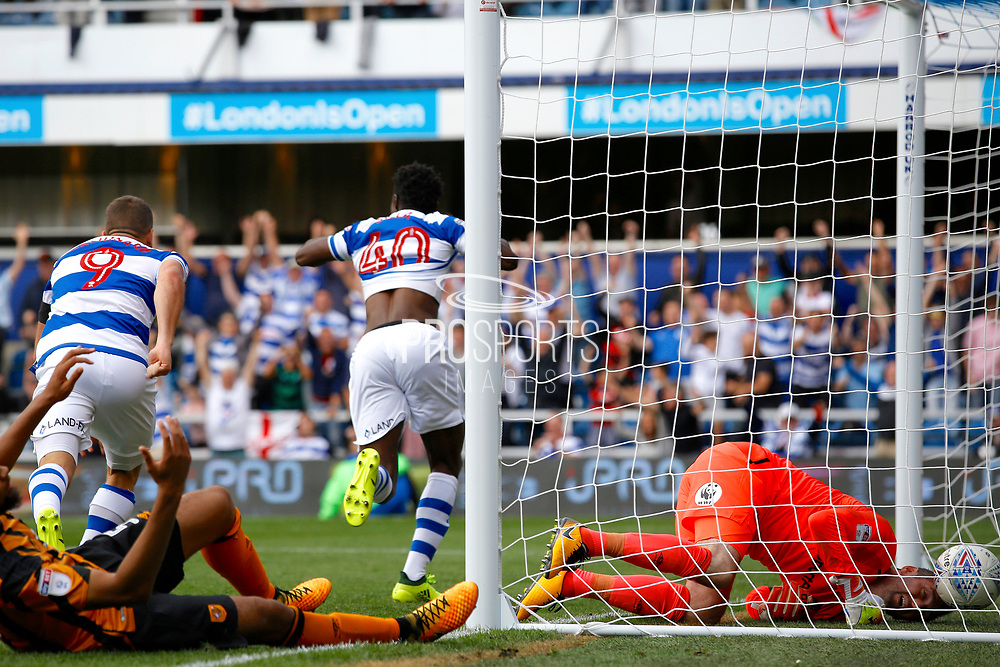 QPR Forward Idrissa Sylla (40) celebrates his goal (score 2-1) during the EFL Sky Bet Championship match between Queens Park Rangers and Hull City at the Loftus Road Stadium, London, England on 19 August 2017. Photo by Andy Walter.