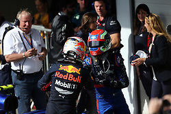 November 17, 2019, Sao Paulo, Brazil: xa9; Photo4 / LaPresse.17/11/2019 Sao Paulo, Brazil.Sport .Grand Prix Formula One Brazil 2019.In the pic: Pierre Gasly (FRA) Scuderia Toro Rosso STR14 and Max Verstappen (NED) Red Bull Racing RB15 (Credit Image: © Photo4/Lapresse via ZUMA Press)