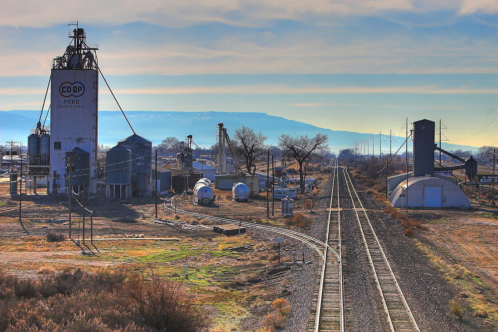 The small town of Fruita, Colorado, near the border with Utah.