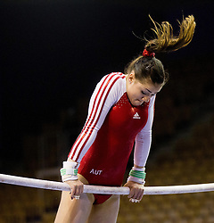 Elisa Haemmerle of Austria competes in the Uneven Bars during Final day 1 of Artistic Gymnastics World Cup Ljubljana, on April 27, 2013, in Hala Tivoli, Ljubljana, Slovenia. (Photo By Vid Ponikvar / Sportida.com)