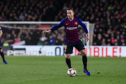February 6, 2019 - Barcelona, Spain - 08 Arthur Melo of FC Barcelona during the semi-final first leg of Spanish King Cup / Copa del Rey football match between FC Barcelona and Real Madrid on 04 of February of 2019 at Camp Nou stadium in Barcelona, Spain  (Credit Image: © Xavier Bonilla/NurPhoto via ZUMA Press)