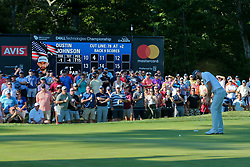 September 1, 2018 - Norton, Massachusetts, United States - Dustin Johnson putts the 11th green during the second round of the Dell Technologies Championship. (Credit Image: © Debby Wong/ZUMA Wire)