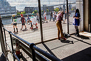 UNITED KINGDOM, London: 25 May 2019 <br /> Cosplay fans take a picture outside of the London ExCeL during the MCM London Comic Con earlier today. Thousands of cosplay enthusiasts will come to the ExCeL Centre this weekend to enjoy the convention.