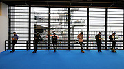 Frankfurt Book Fair 2014, biggest of its kind in the World. Visitors with smartphones.