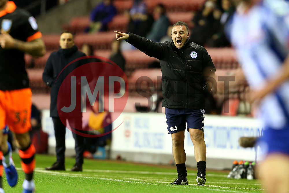 Wigan Athletic manager Warren Joyce and Sheffield Wednesday manager Carlos Carvalhal - Mandatory by-line: Matt McNulty/JMP - 03/02/2017 - FOOTBALL - DW Stadium - Wigan, England - Wigan Athletic v Sheffield Wednesday - Sky Bet Championship