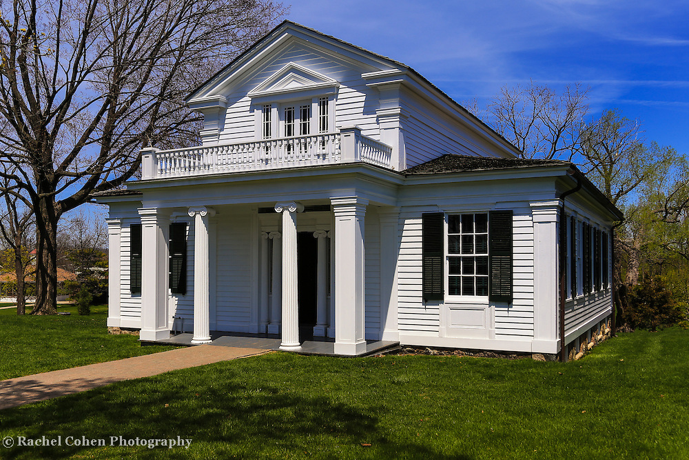 &quot;Robert Frost House&quot; 2<br /> <br /> Enjoy this beautiful scene of one of Robert Frost's homes. This home was originally located in Ann Arbor Michigan and was Frost's home during his time there. It was later moved to Greenfield Village in Dearborn, Michigan where it is located today. The view is Robert Frost's home on a beautiful early spring day!