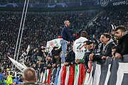 Juventus fan cheerleader during the Champions League Group H match between Juventus FC and Manchester United at the Allianz Stadium, Turin, Italy on 7 November 2018.
