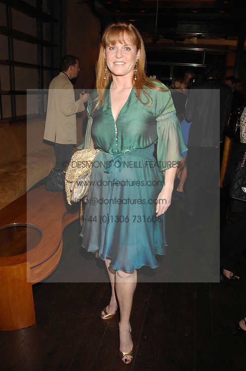 SARAH, DUCHESS OF YORK at a party to celebrate the launch of Cavalli Selection - the first ever wine from Casa Cavalli, held at 17 Berkeley Street, London W1 on 29th May 2008.<br /><br />NON EXCLUSIVE - WORLD RIGHTS