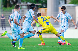 Yegor Filipenko of Maccabi vs Sandi Arcon of Gorica during 2nd Leg football match between ND Gorica and Maccabi Tel Aviv FC (ISR) in First Qualifying Round of UEFA Europa League 2016/17, on July 7, 2016 in Sports park Nova Gorica, Slovenia. Photo by Vid Ponikvar / Sportida