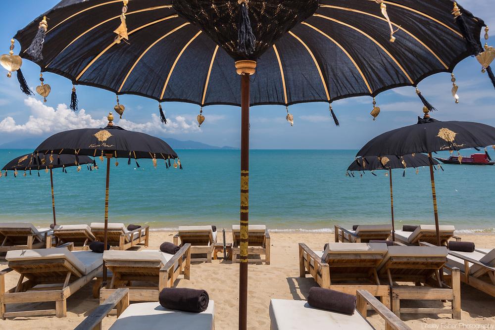 Beach at Karma Beach Resort, a unique resort located on Bophut Beach, Koh Samui, Thailand