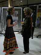 Nina Young and Virginia Mckenna. Cocktail party celebrating Born Free Foundation 21 years anniversary.  Royal Geographical Society, Kensington Gore. 14 march 2005. ONE TIME USE ONLY - DO NOT ARCHIVE  © Copyright Photograph by Dafydd Jones 66 Stockwell Park Rd. London SW9 0DA Tel 020 7733 0108 www.dafjones.com