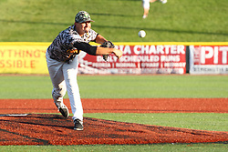 24 July 2015:  Pitcher Chandler Jagodzinski during a Frontier League Baseball game between the Gateway Grizzlies and the Normal CornBelters at Corn Crib Stadium on the campus of Heartland Community College in Normal Illinois