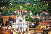 Basilica di Santa Croce from Giotto's Bell Tower, Florence, Tuscany, Italy