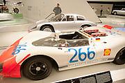 The Steve McQueen Porsche at the Porsche Museum in Stuttgart, Germany.