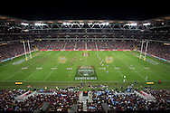 Wide Angel Shot Of The Stadium At The Start Of The Match, July 4, 2012 - RUGBY LEAGUE : State Of Origin - Game 3, Suncorp Stadium, Brisbane, Queensland, Australia. Credit: Lucas Wroe
