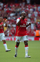 Photo: Tony Oudot. <br /> Arsenal v Fulham. Barclays Premiership. 12/08/2007. <br /> William Gallas of Arsenal celebrates his teams victory