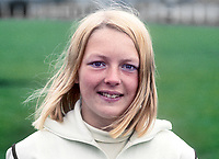 Shauna Kyle, Ballymena, N Ireland, athlete, 200m, 400m, daughter of Maeve Kyle, herself an athlete and currently a sports administrator. August 1969. 196908000212a<br />