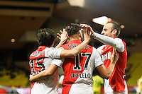 Joie Yannick FERREIRA CARRASCO / Dimitar BERBATOV - 17.01.2015 - Monaco / Nantes - 21eme journee de Ligue 1 <br />Photo : Serge Haouzi / Icon Sport