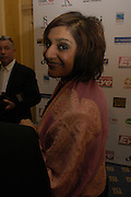 Meera Syal. The Asian Business Awards 2005. Hilton. London. 7 April 2005. ONE TIME USE ONLY - DO NOT ARCHIVE  © Copyright Photograph by Dafydd Jones 66 Stockwell Park Rd. London SW9 0DA Tel 020 7733 0108 www.dafjones.com