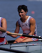 Barcelona, SPAIN.  GBR W8+,  Fiona FRECKLETON, 1992 Olympic Rowing Regatta Lake Banyoles, Catalonia [Mandatory Credit Peter Spurrier/ Intersport Images]