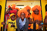 Supporters at the world cup soccer in South Africa<br />