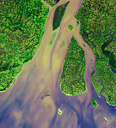 The western-most part of the Ganges Delta. January 6, 2005. Satellite image.