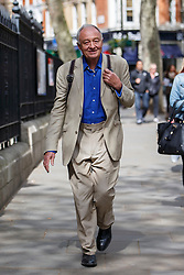 © Licensed to London News Pictures. 30/04/2016. London, UK. Former London mayor KEN LIVINGSTONE leaving LBC studios in London on Saturday, 30 April 2016 after an interview on his suspension from Labour Party amid anti-Semitism claims. Photo credit: Tolga Akmen/LNP