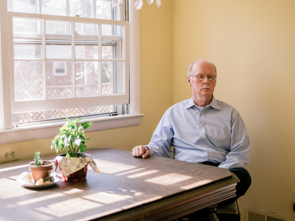 Terry Alford at his home in Annandale, Va. on April 11, 2015. Alford's new book is titled Fortune's Fool: The Life of John Wilkes Booth.