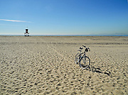 Bicycle on the Sand at Newport Beach