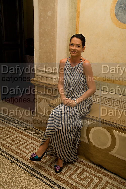 DR. CORINNE FLICK, Christie's Gala. Casa Austria.  Amadeus Weekend. Salzburg. 22 August 2008.  *** Local Caption *** -DO NOT ARCHIVE-© Copyright Photograph by Dafydd Jones. 248 Clapham Rd. London SW9 0PZ. Tel 0207 820 0771. www.dafjones.com.