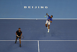 BEIJING, Oct. 6, 2018  Ivan Dodig (R)/Nikola Mektic of Croatia compete during the men's doubles semifinal against Oliver Marach of Austria/Mate Pavic of Croatia at the China Open tennis tournament in Beijing, capital of China, Oct. 6, 2018. Ivan Dodig/Nikola Mektic lost 0-2. (Credit Image: © Jia Haocheng/Xinhua via ZUMA Wire)