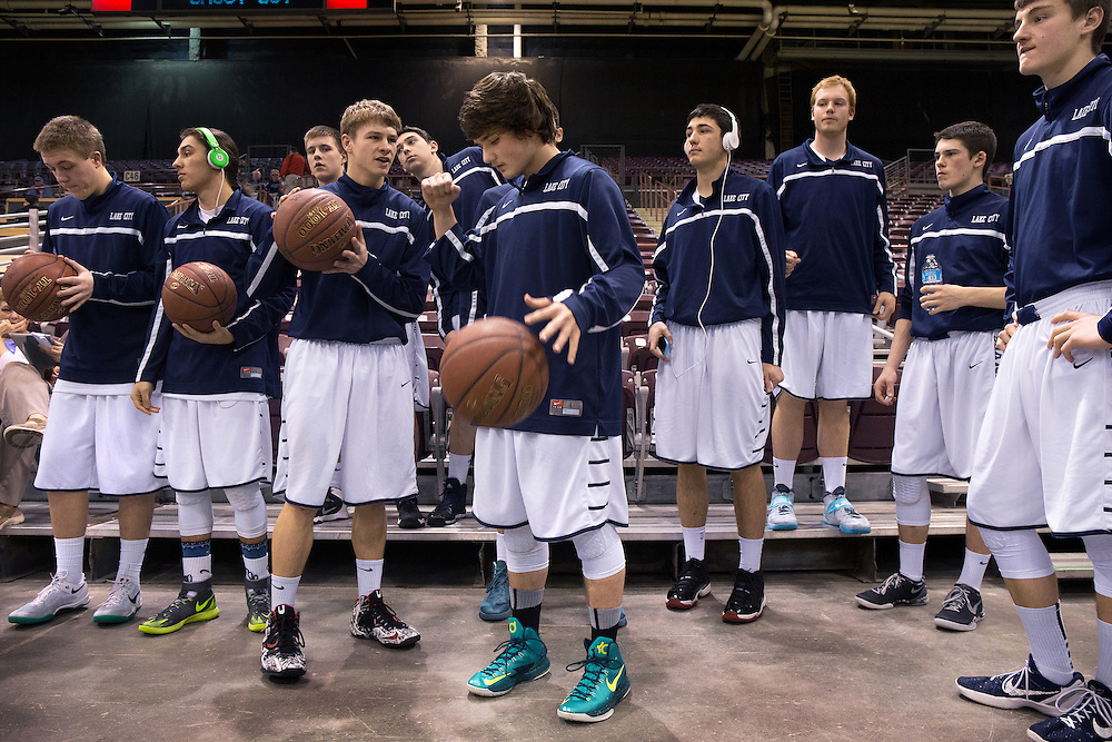 GABE GREEN/Press<br /> <br /> The Lake City Timberwolves wait anxiously to take the court Friday before their game against Capital High School.