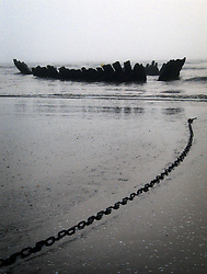 UK ENGLAND LONDON 25APR06 - Shipwreck on Berrow beach on the North Somerset coast.....jre/Photo by Jiri Rezac....© Jiri Rezac 2006....Contact: +44 (0) 7050 110 417..Mobile:  +44 (0) 7801 337 683..Office:  +44 (0) 20 8968 9635....Email:   jiri@jirirezac.com..Web:    www.jirirezac.com....© All images Jiri Rezac 2006 - All rights reserved.
