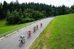 Riders during 3rd Stage of 26th Tour of Slovenia 2019 cycling race between Zalec and Idrija (169,8 km), on June 21, 2019 in Slovenia. Photo by Vid Ponikvar / Sportida