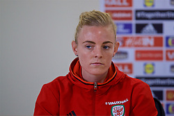 CARDIFF, WALES - Thursday, November 23, 2017: Wales' captain Sophie Ingle during a press conference ahead of the FIFA Women's World Cup 2019 Qualifying Round Group 1 match between Wales and Kazakhstan at the Cardiff City Stadium. (Pic by David Rawcliffe/Propaganda)