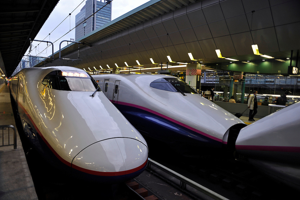 Tokyo central station.Bullet train bound for Yuzawa.