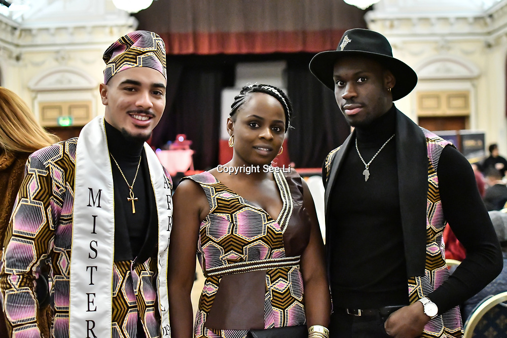 Mister afrique France 2019 - Leandro Brito attend the Mr & Miss Congo 2020,on 29th February 2020 at Old Townhall,Stratford, London, UK.