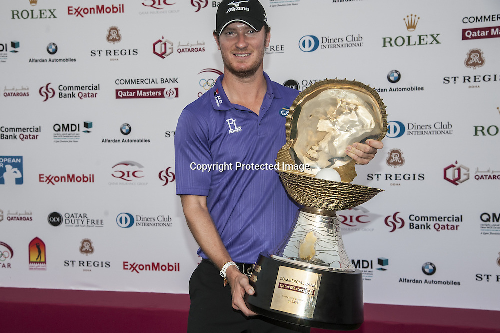 26-01-13 European Tour 2013, Commercial Bank Qatar Masters, Doha GC, Doha, Qatar. 23-26 Jan. Chris  Wood of England during the final round.