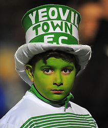 Little Jolly the Yeovil Mascot looks on- Photo mandatory by-line: Harry Trump/JMP - Mobile: 07966 386802 - 03/03/15 - SPORT - Football - Sky Bet League One - Yeovil v Walsall - Huish Park, Yeovil, England.