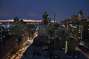 view of midtown Manhattan looking uptown 7th Avenue around 53 street