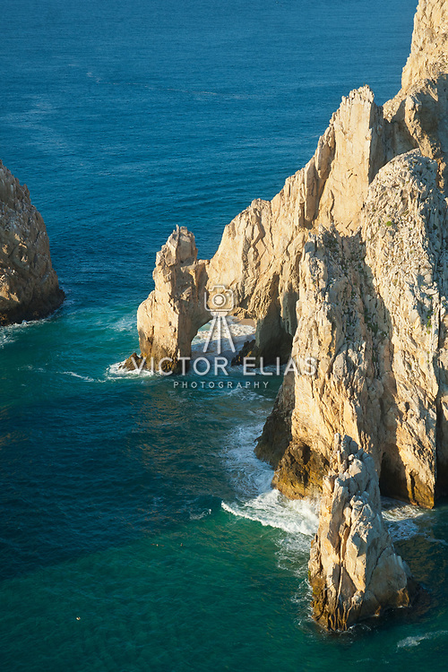 Aerial view of The Arch of Cabo San Lucas. Baja California Sur, Mexico.