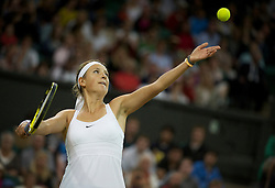 LONDON, ENGLAND - Tuesday, June 28, 2011: Victoria Azarenka (BLR) druing the Ladies' Singles Quarter-Final match on day eight of the Wimbledon Lawn Tennis Championships at the All England Lawn Tennis and Croquet Club. (Pic by David Rawcliffe/Propaganda)