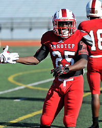 Imhotep Panthers defeat West Philadelphia speedboys in PIAA District 12 November 21, 2015 Public League High School Football Finals, held at the neutral field of North East High School, in Philadelphia, PA. (photo by Bastiaan Slabbers)