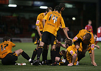 Photo: Rich Eaton.<br /> <br /> Crewe Alexandra v Hull City. Carling Cup. 15/08/2007. Hull's Stephen McPhee (2nd r) scores in the second half to make the score 3-0 and celebrates with teammates.