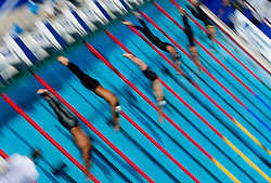 Athletes competes during Men's  1500m Freestyle Heats during the 13th FINA World Championships Roma 2009, on August 1, 2009, at the Stadio del Nuoto,  in Foro Italico, Rome, Italy. (Photo by Vid Ponikvar / Sportida)